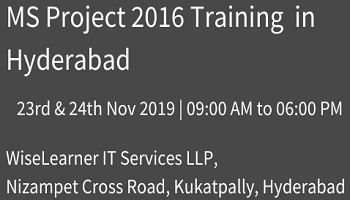 MS PROJECT 2016 Training Program in Hyderabad with excellent trainers