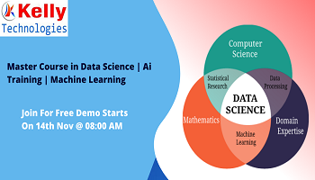 Data Science Free Demo-Exclusively By Analytics Experts At Kelly Technologies Scheduled On 14th Nov 08 AM, Hyderabad