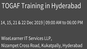 Best Training for TOGAF in Hyderabad from the well experienced trainers