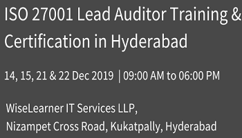 Best Training and Certification for ISO 27001 Lead Auditor with best tutors