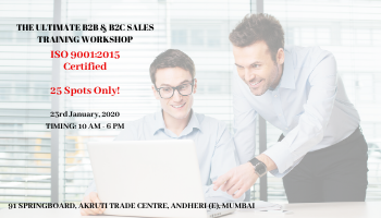 THE ULTIMATE B2B AND B2C SALES TRAINING WORKSHOP