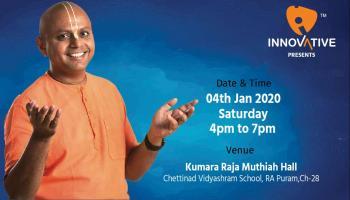 Gaur GopalDas Live in Chennai - 04-01-2020