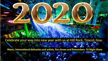 DJ Night Show 2020 New Year Celebration At Arambol, Goa