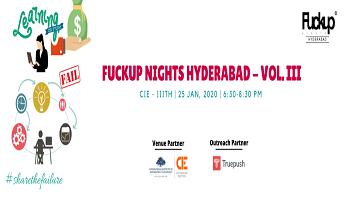 Fuckup Nights Hyderabad - Vol. III