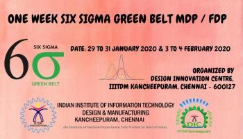 One Week Six Sigma Green Belt MDP / FDP