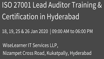 Best Training and Certification for ISO 27001 Lead Auditor in Hyderabad with best trainers