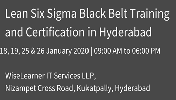 Training and Certification for Six Sigma Black Belt with experienced trainers in hyderabad