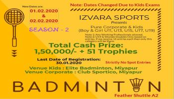PURE CORPORATE AND KIDS BADMINTON EVENT BY IZVARA SPORTS SEASON 2