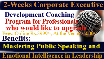 2- Weeks Corporate Executive Development Coaching Program for Professionals