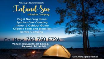 Inland Sea Lakeside Camping at Lake Resort in Pune