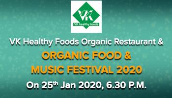Organic Food  Music Festival AT VK Healthy Foods Organic Restaurant