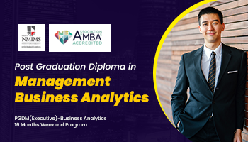 Post Graduate Diploma in Management Business Analytics for working executives