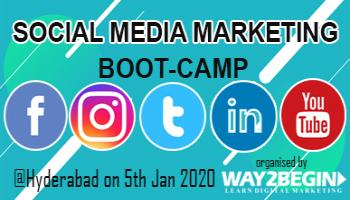 Social Media Marketing Boot-camp in Hyderabad on 2nd Feb 2020