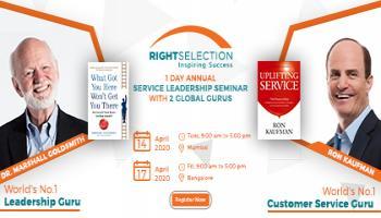 1 Day Service Leadership Seminar with Marshall Goldsmith and Ron Kaufman in Mumbai