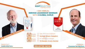 1 Day Service Leadership Seminar with Marshall Goldsmith and Ron Kaufman in Bangalore