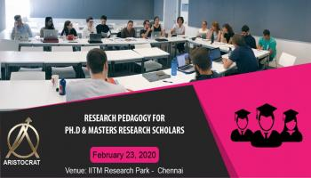RESEARCH PEDAGOGY FOR MASTERS AND PHD RESEARCH SCHOLARS