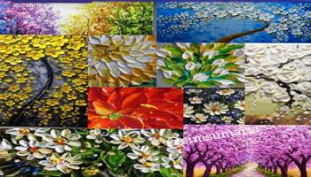 palette knife oil paintings