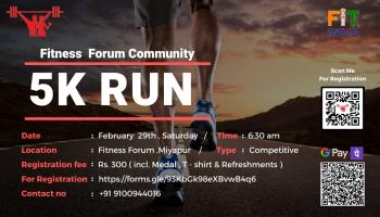 5K RUN by Fitness Forum Community.