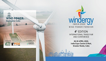 Windergy India 2020 |28 - 30 Apr | Conference on Wind Sector India
