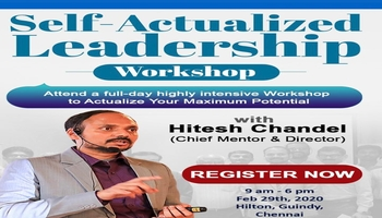 Self Actualized Leadership Workshop - With Hitesh Chandel