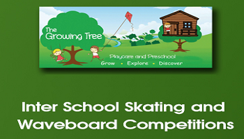 Inter school skating and wave board competition