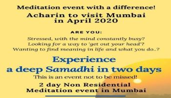 2 day Non Residential Meditation event in Mumbai