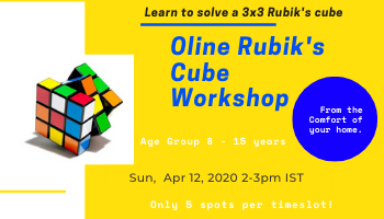 Rubiks Cube Workshop for  Beginners  SESSION-1