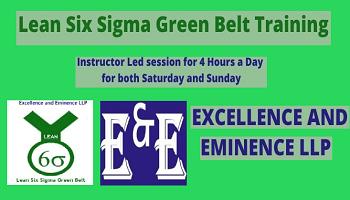 Lean Six Sigma Green Belt Virtual Class Room Training (Weekend Batch)
