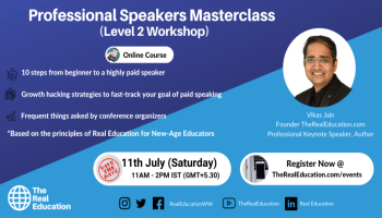 Professional Speakers Masterclass - Level 2 Workshop - Vikas Jain