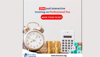 Live and interactive training on Professional Tax