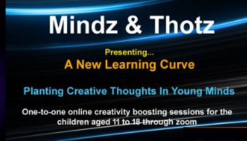 Mindz and Thotz - A creativity Boosting Webinar for kids aged 11 to 18