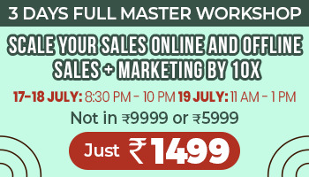 Want rapid increase in your sales? Take part and improve your sales by 10x with Digital Marketing master Training