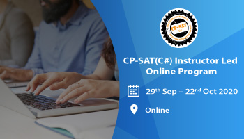 Instructor led online Selenium 3.0 program - BE A CP-SAT - C Sharp