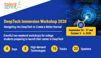 DeepTech Immersion Workshop 2020