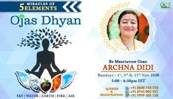 Ojas Dhyan- 5 elements meditation by dhyan guru archnadidi