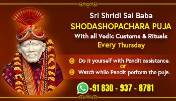 Sri Shridi Sai Baba Shodashopachara Puja