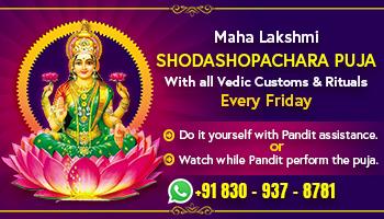 Maha Lakshmi Shodashopachara Puja