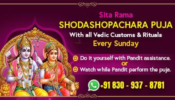 Sri Sita Rama Shodashopachara Puja