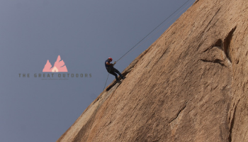 300 ft Rappelling at Bhongir Fort