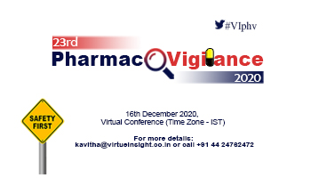 23rd Pharmacovigilance 2020 (Virtual Conference)