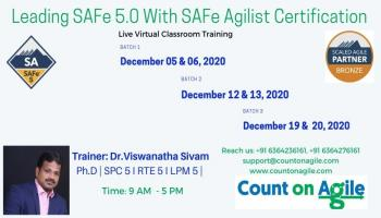 Leading SAFe 5.0 Live Training on Dec month