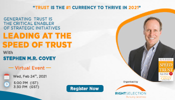 Virtual Event- Leading at the Speed of Trust with Stephen M.R. Covey
