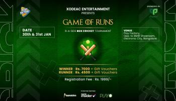 Game of Runs Box Cricket Tournament