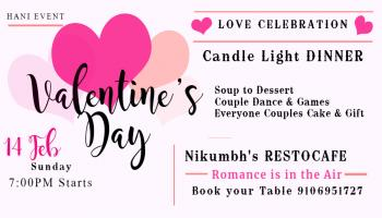 Valentines Day Party at NIKUMBHS RESTOCAFE