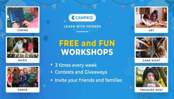 Free workshops for Parents and Kids by Camp K12