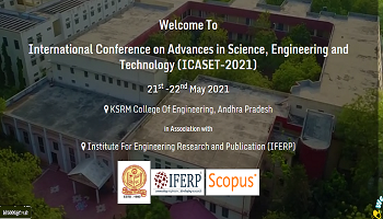 International Conference on Advances in Science, Engineering and Technology (ICASET-2021)