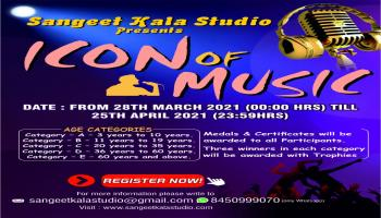 Online Singing Competition-Icon Of Music