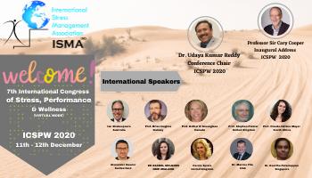 8th International Congress of STRESS - PERFORMANCE - WELLNESS (ICSPW 2021)    Visit: www.isma.org.in/icspw2021