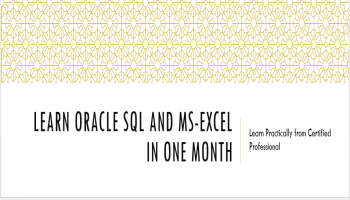 Learn Oracle SQL and MS-Excel with Hands-on exercises in a Month