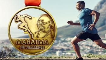 Mahatma 10KM Virtual Run - Get Medal by Courier